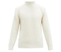 Bobble-knit Wool-blend Sweater