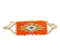 Evil Eye Diamond & Sapphire Woven Bracelet