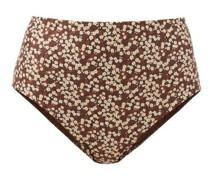 The High Waist Floral-print Bikini Briefs