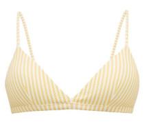 Striped Triangle Cup Bikini Top