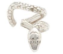 Nashash Tsavorite & Sterling-silver Snake Ear Cuff