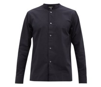 Mande Stand-collar Cotton-poplin Shirt