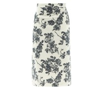 Stella Floral-print Cotton Midi Skirt