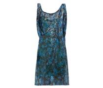 Draped-shoulder Sequinned Mini Dress