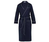 Polka-dot Jacquard-stripe Cotton Robe
