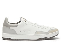 Court Elite Leather And Suede Trainers