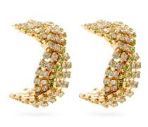 Chevron Crystal-embellished Earrings