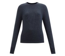 Raglan-sleeve Cashmere Sweater