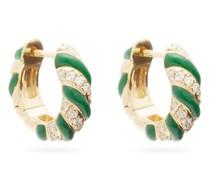 Créole Diamond & 9kt Gold Hoop Earrings