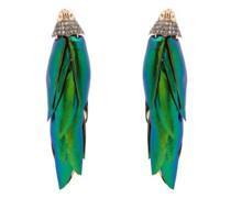 Scarab Bunch Diamond & 18kt Gold Earrings