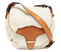Botsy Leather-trim Shearling Cross-body Bag