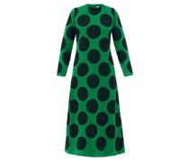Polka-dot Sequinned Cotton-poplin Longline Dress