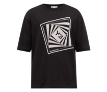 Optimistic Illusions Printed Cotton-jersey T-shirt