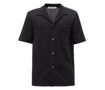 Cuban-collar Gauze Shirt