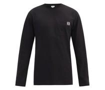 Anagram Patch-pocket Cotton-jersey T-shirt