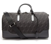 Ff-logo Jacquard Leather-trim Canvas Holdall