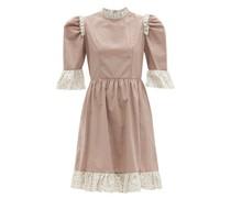 Gingham-check Ruffled Cotton-twill Dress