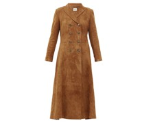 Marge Double-breasted Suede Coat