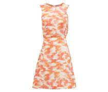 Trini Abstract Ikat-print Cutout Linen Mini Dress