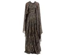 Lamé Fil-coupé Silk-blend Georgette Gown