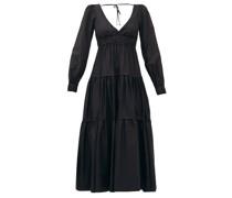 Theodora V-neck Tiered Cotton Dress