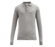 Wool-blend Long-sleeved Polo Shirt