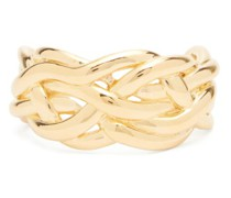 Woven 18kt Gold-plated Sterling-silver Cuff