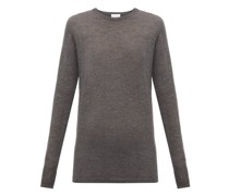 Long-line Fine-knit Cashmere Sweater
