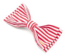 Striped Bow Satin Hair Clip