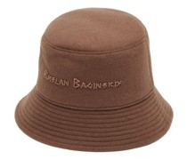 Beaded-logo Felted-wool Bucket Hat