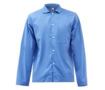 Patch-pocket Organic-cotton Pyjama Shirt