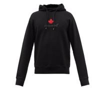 Maple-logo Cotton-jersey Hooded Sweatshirt