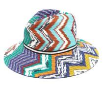 Zigzag Cotton-blend Straw Hat