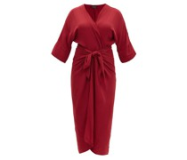 Ana Knotted Crepe Cover Up