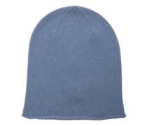 Rolled-brim Cashmere Beanie Hat