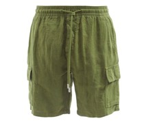 Baie Patch-pocket Linen Shorts