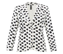 Watercolour Polka-dot Single-breasted Blazer