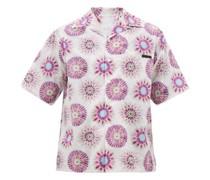 Tie Dye-print Cotton Shirt