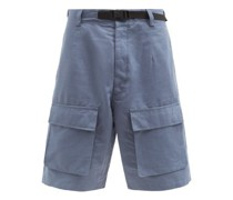 Eln Cotton-blend Cargo Shorts