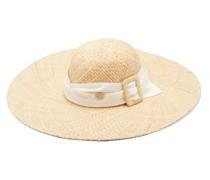 Blanche Ribbon-trim Straw Hat