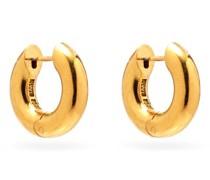 Almost Gold-vermeil Hoop Earrings