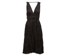 Balsan Polka-dot Crinkled-silk Midi Dress
