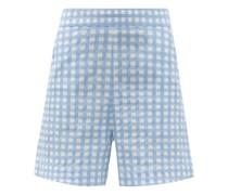 Robin High-rise Cotton-blend Gingham Shorts