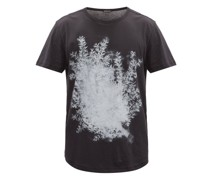 Branch And Logo-print Cotton-jersey T-shirt