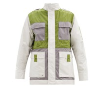 Rhombus Panelled Cotton-blend Jacket