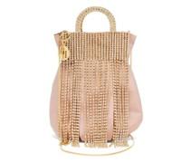 Follie Crystal-fringed Satin Bag