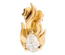 Diamond In Heat 18kt Gold Single Earring