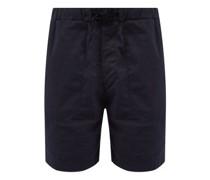 Drawstring-waist Cotton-seersucker Shorts