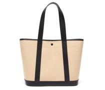 Helene Leather-trim Canvas Tote Bag