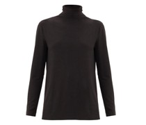 Roll-neck Jersey Top